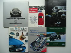 Superlative Autoshow, 100 Years of Automobile, Automobile adventure, Automotive Technology & Dictionary, National Classic Tour - Mixed lot of 6 books