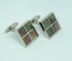 14kt gold Men's Cufflinks with mother of pearl