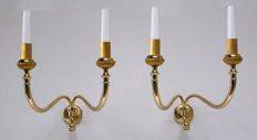 Pair of Imperial style lights, 1940, Italy
