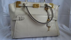Michael Kors Off white pebbled leather satchel shoulder carryall tote purse bag ***No reserve price***