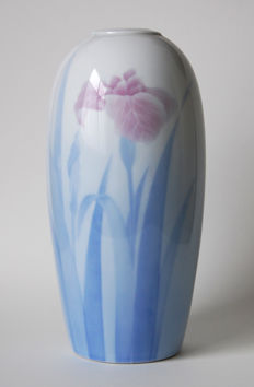 Porcelain vase by Fukagawa - Japan - 1977