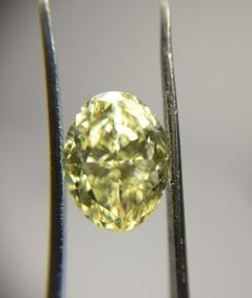 2.59 ct Oval Modified Brilliant cut diamond W-X VS2