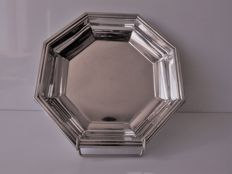 "Christofle - ""Fleuron France"" collection - octogonal bowl or dish - silver plated metal - circa 1970"