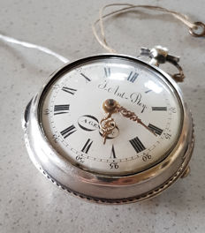 2. J.Ant. Rey, Geneve - pocket watch - with fine outer casing made of silver, Switzerland around 1770.