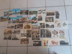 50 old postcards Germany / Europe + 10 old star photo postcards from 1962-1966 rare lot