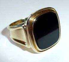 Antique men's ring – 585 / 14 kt gold – solid construction – ring size: 58 / 18.4 mm – circa 1940