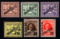 Vatican - 1931-1938 Pious XI Postage due and parcel post – Sassone s.700 and s.750