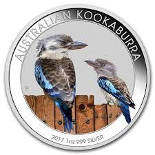 Australia – 1 dollar 2017 'kookaburra' coloured edition – 1 oz silver
