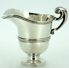 George V miniature solid silver cream jar - George Nathan & Ridley Hayes - Chester - 1911