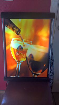 Illuminated advertising - Leffe beer - late 20th century