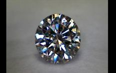 Diamond, round cut, Light Brown, VS2, 0.54 ct.