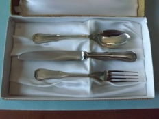 Children's cutlery, silver 800, Italy .1960