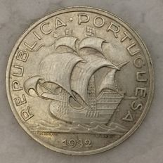 Portugal – Republic – 5$00 1932 – Silver – RARE IN THIS CONDITION