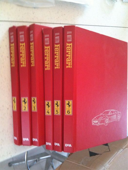 "Books collection ""Il Mito Ferrari"" 6 volumes"