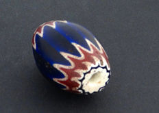 Old large chevron or rosetta bead from more than a century ago