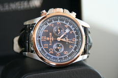 Thomas Earnshaw 1805 Commodore - chronograph- Stainless steel 18k Rosé gold plated Men's 2016 New Old Stock