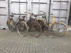 5 Antique bicycles - Gazelle, Pon, Fongers and 2 unknown brands