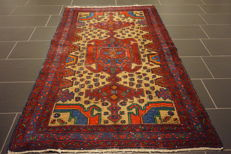 Hand-knotted Persian collector's carpet, Hamadan, collector's rug, made in Iran, 120 x 205 cm