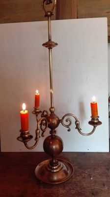 Three-light candlestick - Northern Italy - 1930s/40s