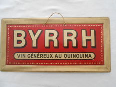 BYRRH - Vin généreux au quinquina - Curved sheet metal with silkscreen print - 1915