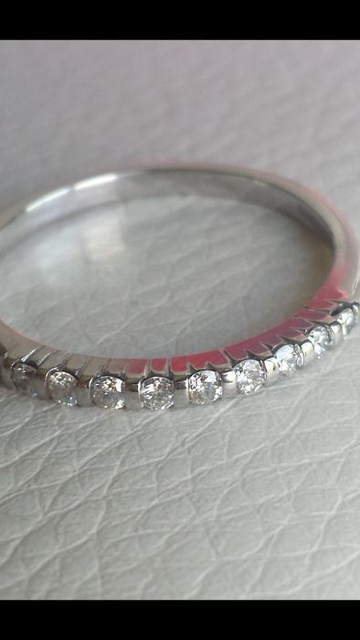 18 kt Gold ring with diamonds of 0.45 ct - size 55.5/17.5