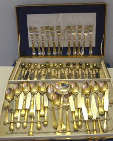 Cutlery set - in 800 silver plating