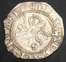 Spain - Catholic Kings - half a silver real - Seville mint - 1474 to 1504 - without assayer.