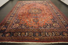Old hand-knotted Art Nouveau Persian carpet – Mashhad – 295 x 380 cm – made in Iran – signed 'by master knotter'