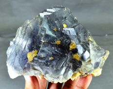 Stop Growth Fluorite Crystal Natural Specimen with Phantoms  - 143 x 110 x 75mm - 1542 gm