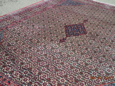 Signed Moud is a beautiful large hand knotted woolen Persian carpet 360cmx258cm