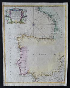 Atlantic Ocean; France, Spain, Portugal; R.W. Seale – A correct chart of the Bay of Biskay….France – 1745