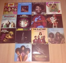 Lot of 14 classic funk/soul albums from the sixties and seventies including; Ike&Tina Turner, The Platters, The Supremes, Roberta Flack, Dionne Warwick and more.