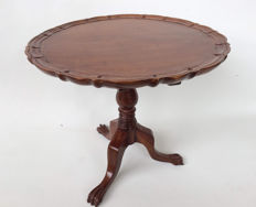 A George ||| style mahogany miniature table, second half 20th century