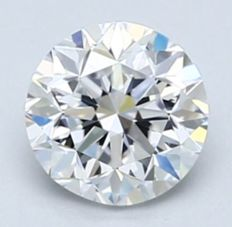 0.70CT D/VS1 GIA Certified round brilliant cut diamond - Laser inscribed - Original image 10X