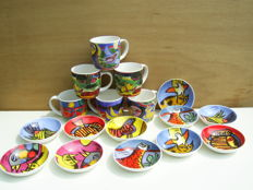 Corneille-11 Saucers and 6 Mugs