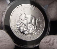 Canada - 8 dollars - 2014 - fox 1.5 oz silver