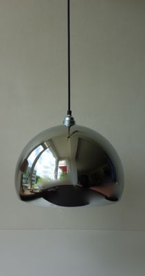 Unknown designer - XL chrome-plated globe pendant light