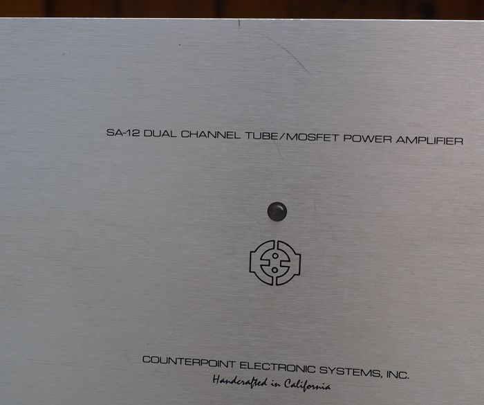 Counterpoint SA-12 Vintage 1987 Hybrid (tube/FET) stereo power amplifier -  Catawiki