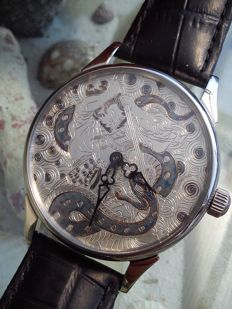 Samurai – Molnija XL skeleton, marriage men's wristwatch