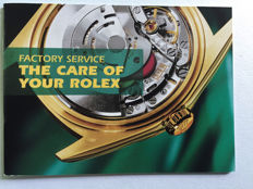 ROLEX INSTRUCTION BOOK