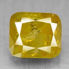 0.47 ct Fancy Olive Yellow Diamond ** no reserve price **