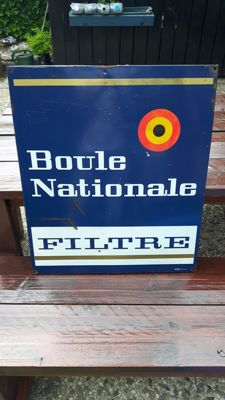 Boule Nationale - metal sign - Plastemal Nivelles - 1968