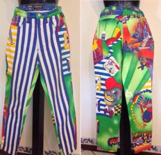 Versace – wonderful vintage fantasy trousers from the '90s – New York – Jazz Era