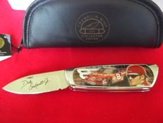 "Franklin Mint - NASCAR Driver Dale Earnhardt Jr. ""Born to Race"" Collector's Knife incl. case, Certificate and original packaging - Is rarely offered."