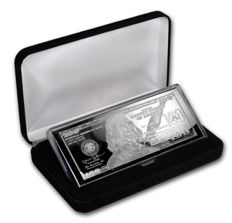 $100 silver bullion-bill- 2017, 4 oz fine silver, in noble box with certificate