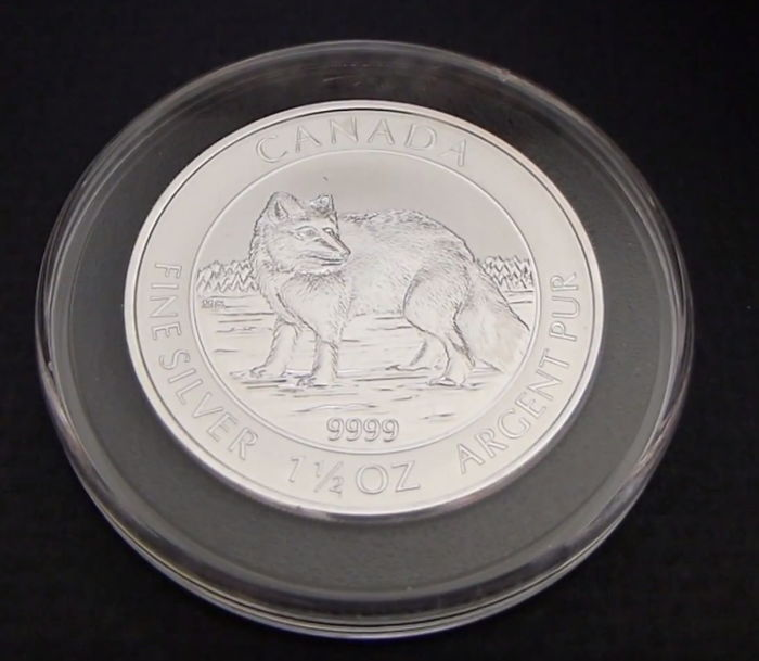 Kanada - 8 Dollars 2014 'Wildlife Polarfuchs' - 1½ oz silber