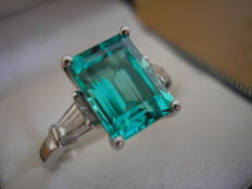 Emerald  ring 2.48cts Colombian