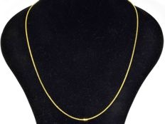 Ladies 18k Gold Rolo Chain. Length 55 cm.