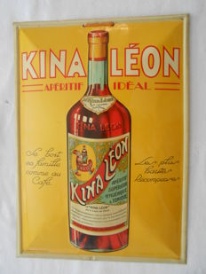KINA LEON - Curved sheet metal with silkscreen - 1950