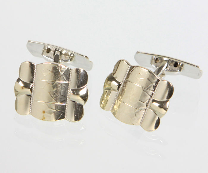 Art Deco cuff links - 830 silver for sale